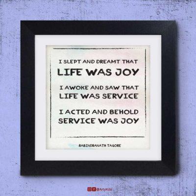Service-Was-Joy|Tagore Poster|Artykite