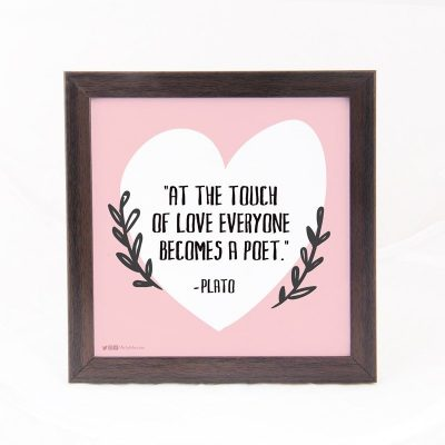 At the touch of love- Plato